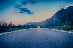 Le coucher du soleil Photographie stock