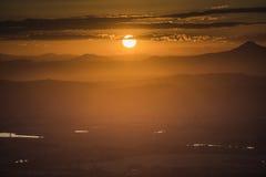 Le coucher du soleil Photo libre de droits