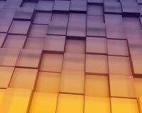 Le coucher du soleil abstrait bloque le fond Image stock
