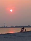 Le coucher du soleil au cap peut images stock