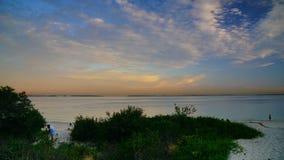 Le coucher du soleil au-dessus des Brighton-Le-sables ?chouent, Sydney, images libres de droits