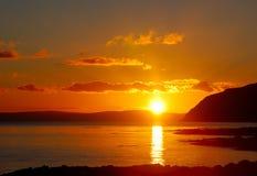 Le coucher du soleil chauffent de Kintyre. Photographie stock libre de droits