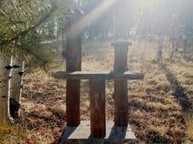 Le coucher du soleil clôture le courrier Photo libre de droits
