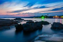 Le coucher du soleil de Beidaihe Photographie stock libre de droits