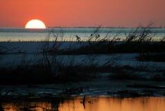 Le coucher du soleil de l'amoureux Photo libre de droits
