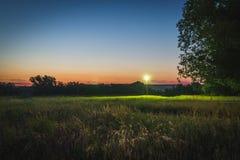 Le coucher du soleil de la vie photo libre de droits