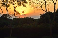 Le coucher du soleil de Ligthing est beau Photos libres de droits