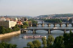 Le coucher du soleil de Prague Images stock