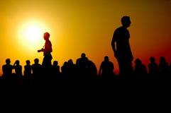 Le coucher du soleil du Grec Images stock