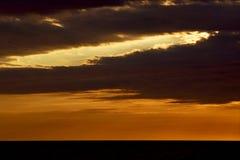 le coucher du soleil du Madagascar Photo libre de droits