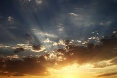 Le coucher du soleil est CORRECT photographie stock libre de droits