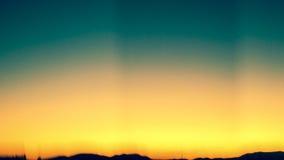 Le coucher du soleil se fanent, avec la silhouette Photographie stock libre de droits