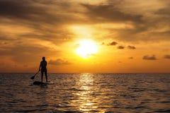 Le coucher du soleil tiennent la palette Image libre de droits