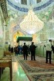 Le couloir d'entrée dans la mosquée de Shah Cheragh Photo libre de droits