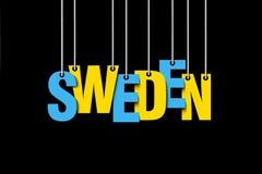 Le coup de la Suède de mot sur les cordes Images stock