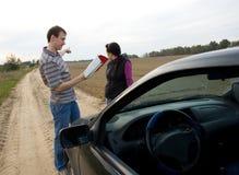Le couple choisit la route Image libre de droits