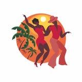 Le couple danse un Salsa Images libres de droits