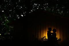 Le couple de mariage détaille le ligth images libres de droits