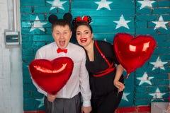 Le couple a l'amusement Images libres de droits