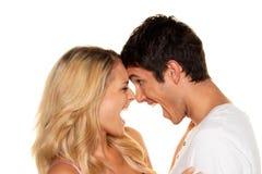 Le couple a l'amusement. Amour, images libres de droits