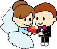 Le couple mignon se marie  Image libre de droits