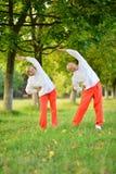 Le couple plus âgé est engagé dans les sports en nature Photo stock