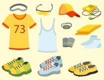 Le coureur courant de vêtements de vêtements de sport embraye pour l'illustration de vecteur de séance d'entraînement de sport Photo libre de droits