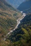 Le cours d'eau de la rivière de la montagne Photographie stock