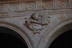 Le couvent de San Esteban d?taille des vo?tes d'entr?e principale images stock