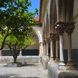 Le couvent du monastère catholique du Christ dans Tomar, Portuga Photos stock