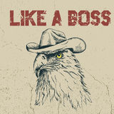 Le cowboy d'Eagle est comme un patron Photos stock