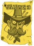 Le cowboy de dessin animé a voulu l'affiche Images libres de droits