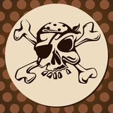 Le crâne du pirate photos stock