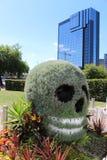 Le crâne a formé le buisson et l'affichage floral, Birmingham Images libres de droits