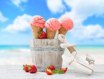 Le crème des vacances Photo stock