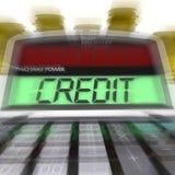 Le crédit calculé signifie l'argent et le financement de prêt illustration stock