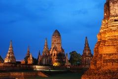 le crépuscule de vieux temple photo libre de droits