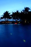 Le crépuscule des Maldives photos stock