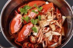 Le crabe chinois de nourriture Image libre de droits