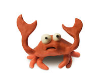 Le crabe d'argile a soulevé des griffes d'isolement avec le chemin de découpage photos stock