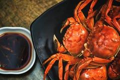 Le crabe velu de nourriture de Sichuan de crabe chinois de cuisine a cuit le crabe à la vapeur velu photographie stock libre de droits