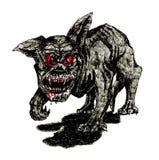 Le crabot noir d'enfer illustration de vecteur