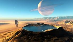 Le cratère illustration stock