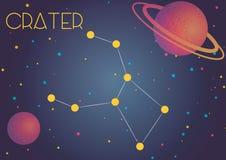 Le cratère de constellation illustration de vecteur