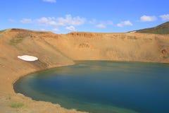 Le cratère de Viti Image libre de droits