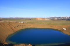 Le cratère de Viti Images stock