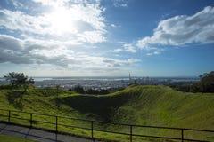 Le cratère du bâti Eden In Auckland Photographie stock libre de droits