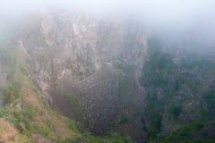 Le cratère du volcan de Batur sur l'île de Bali Photos stock
