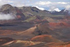 Le cratère du volcan de Haleakala. image libre de droits