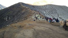 le cratère ijen Photos libres de droits